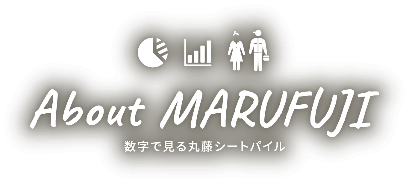 About MARUFUJI 数字で見る丸藤シートパイル